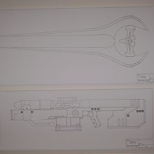 HALO 3 Covenant Energy Sword & SRS99D-S2 AM Sniper Rifle