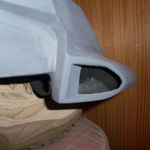 side vents actually work. once attached I cut out the inside of the helmet
