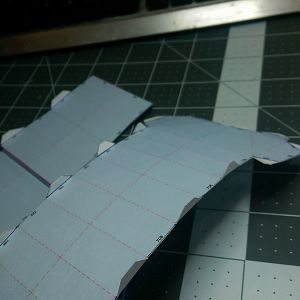 I cut, folded and glued the center piece again, I didn't like one of the folds.
