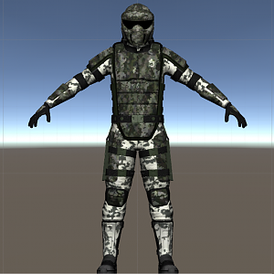 Referense image of the finished marine. It should be noted that the green camo isn't actually the one I'm going for with the costume.