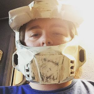 """New helmet, don't mind the """"high"""" look, I am blind, and took this picture without my contacts or glasses."""
