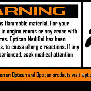Warning Label - MediGel warning label. Vector and HD versions available upon request.