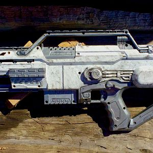 Hoth themed Nerf Stampede