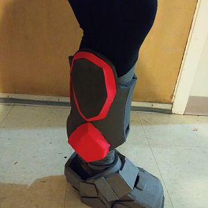 Boot with shin
